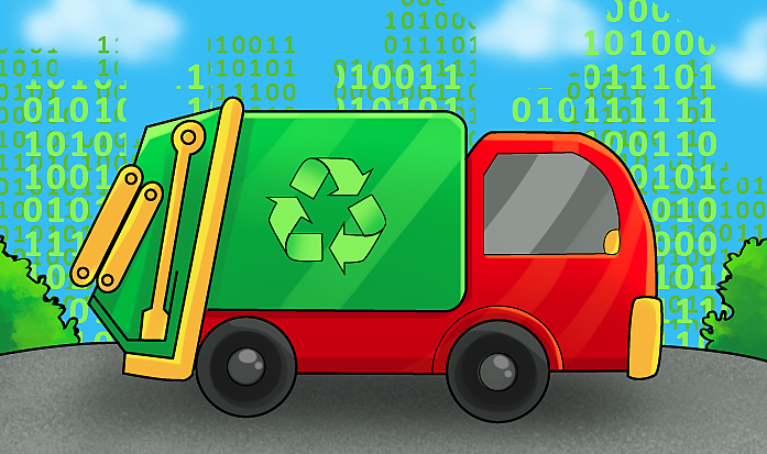 Ping loves to drive Garbage Collection truck in Cyburbia